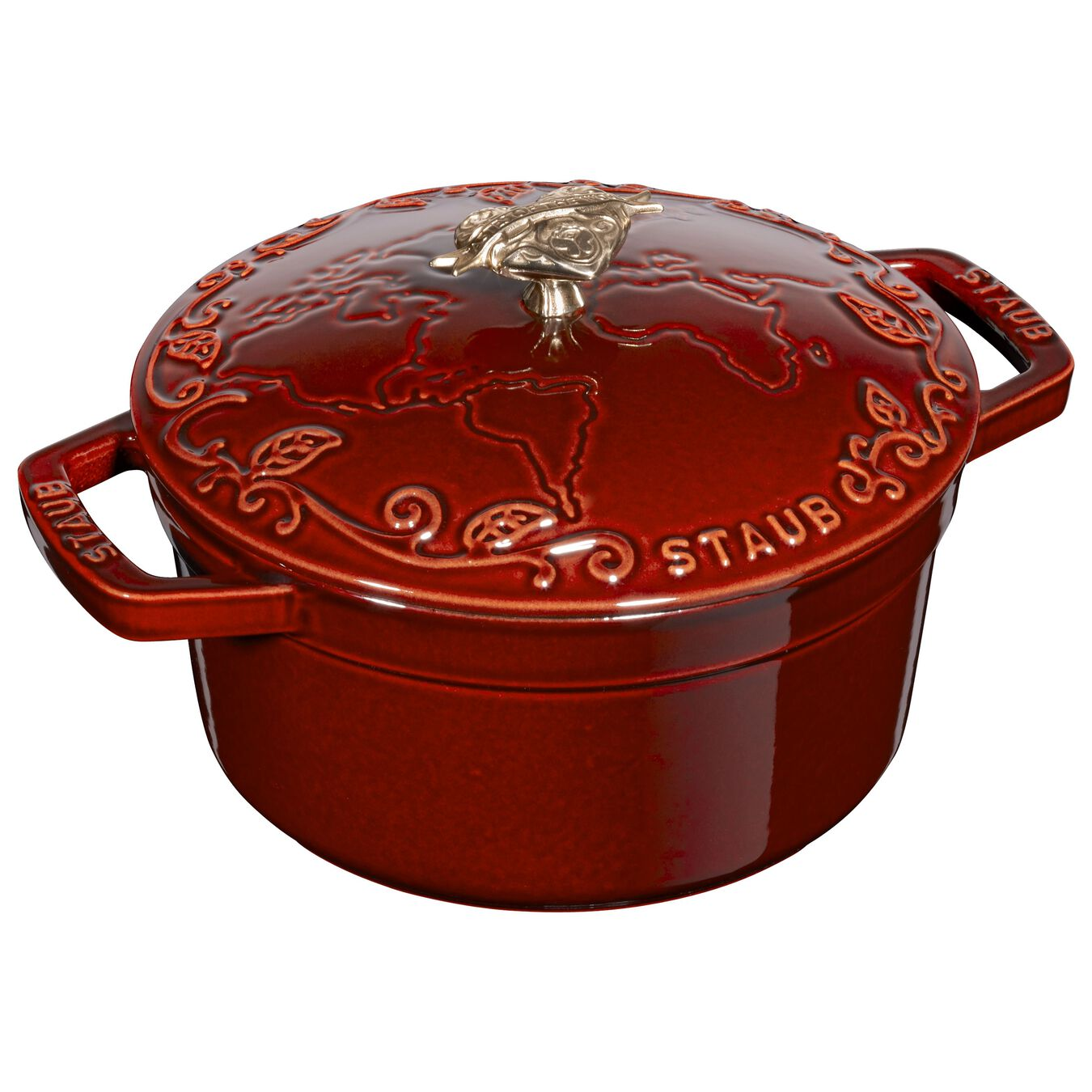 2.25 l Cast iron round Cocotte, grenadine-red,,large 7