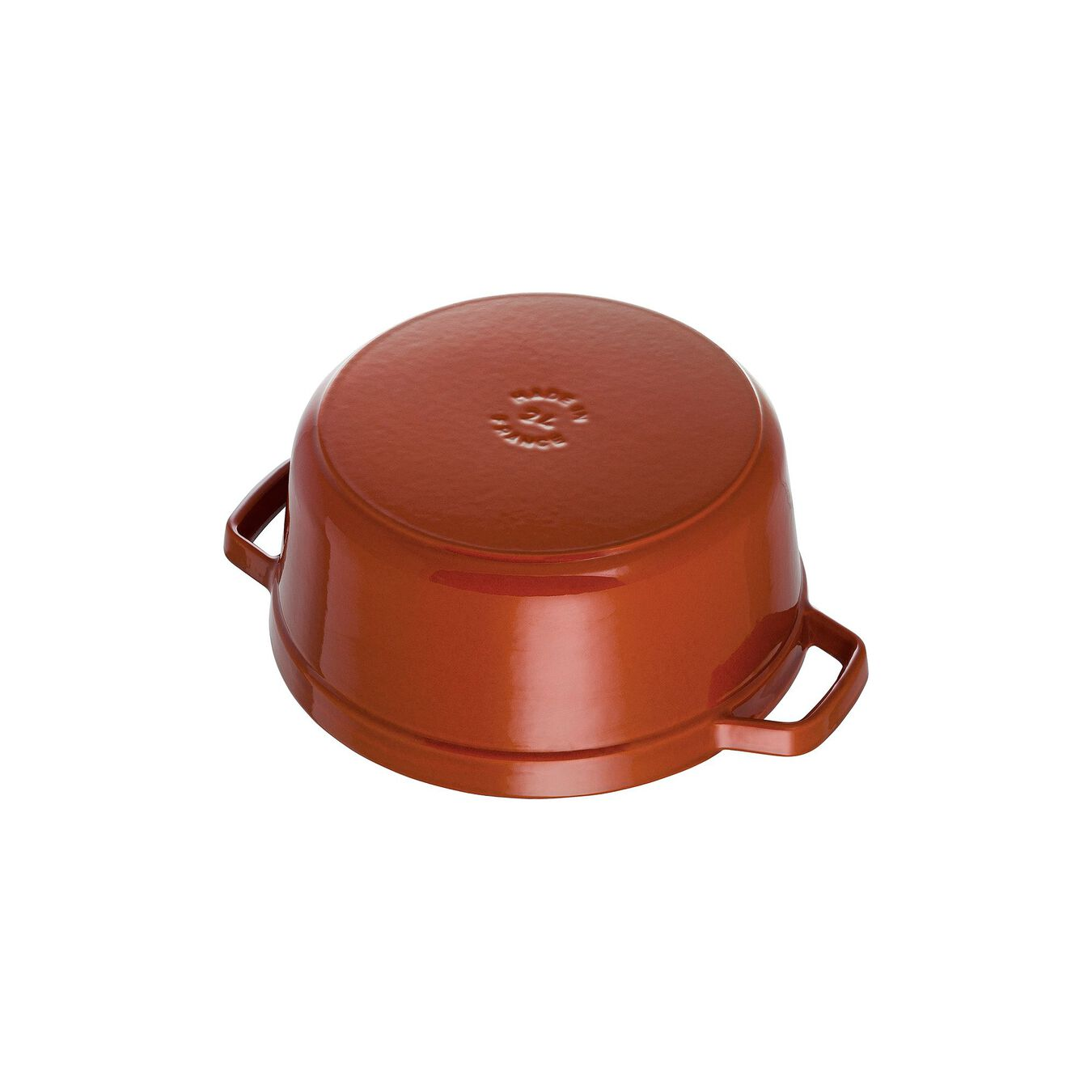 4 qt, round, Cocotte, burnt orange,,large 2