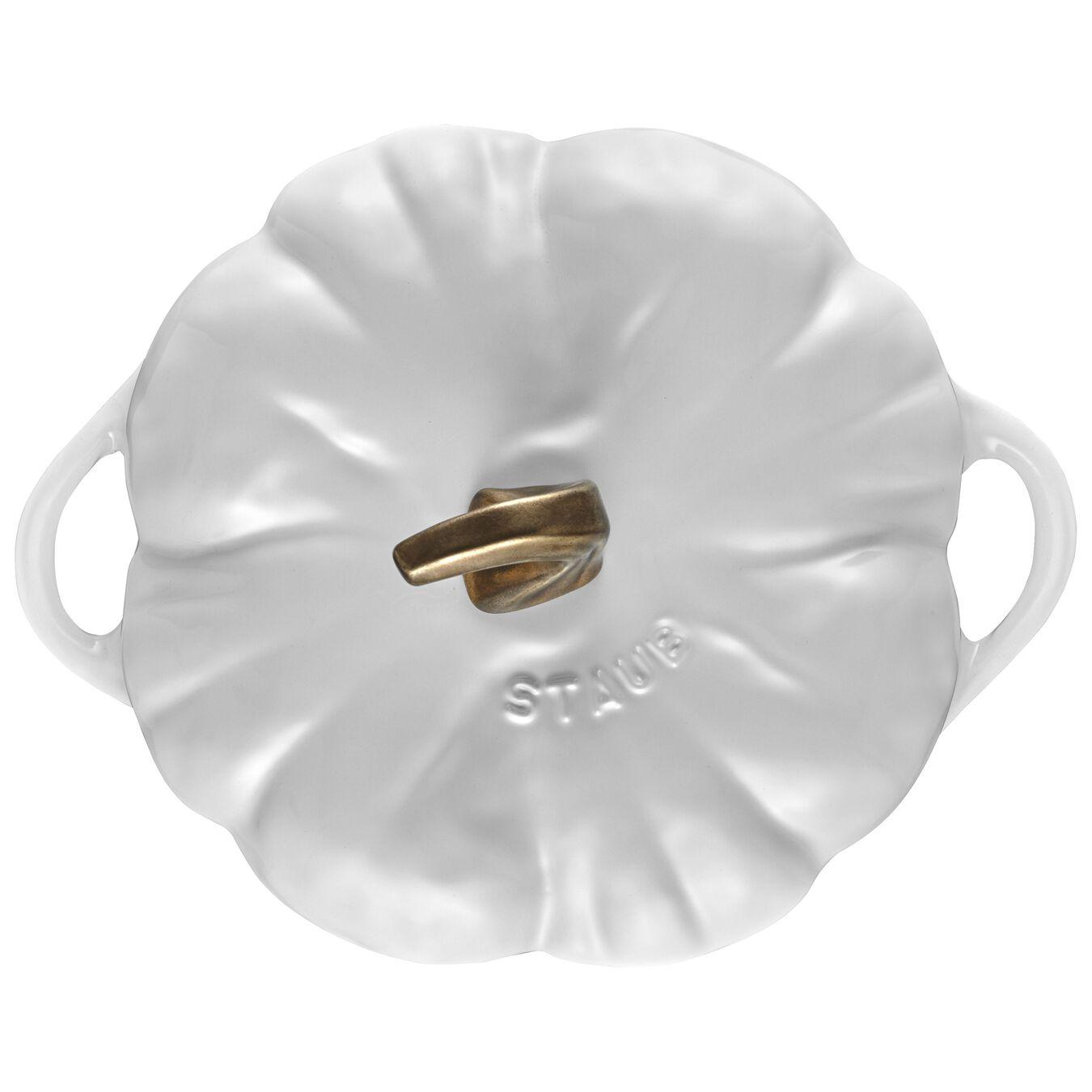 3.5-qt Pumpkin Cocotte - White,,large 2