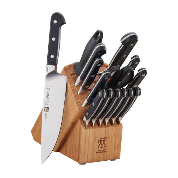 16-pc Knife Block Set, Bamboo, , large