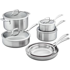 ZWILLING Spirit Stainless, 3-ply 10-pc Stainless Steel Cookware Set