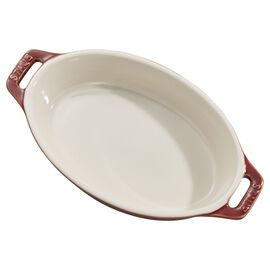 Staub Ceramics, 6.5-inch Oval Baking Dish - Rustic Red