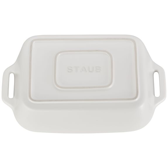 10.5-inch x 7.5-inch Rectangular Baking Dish - Matte White,,large