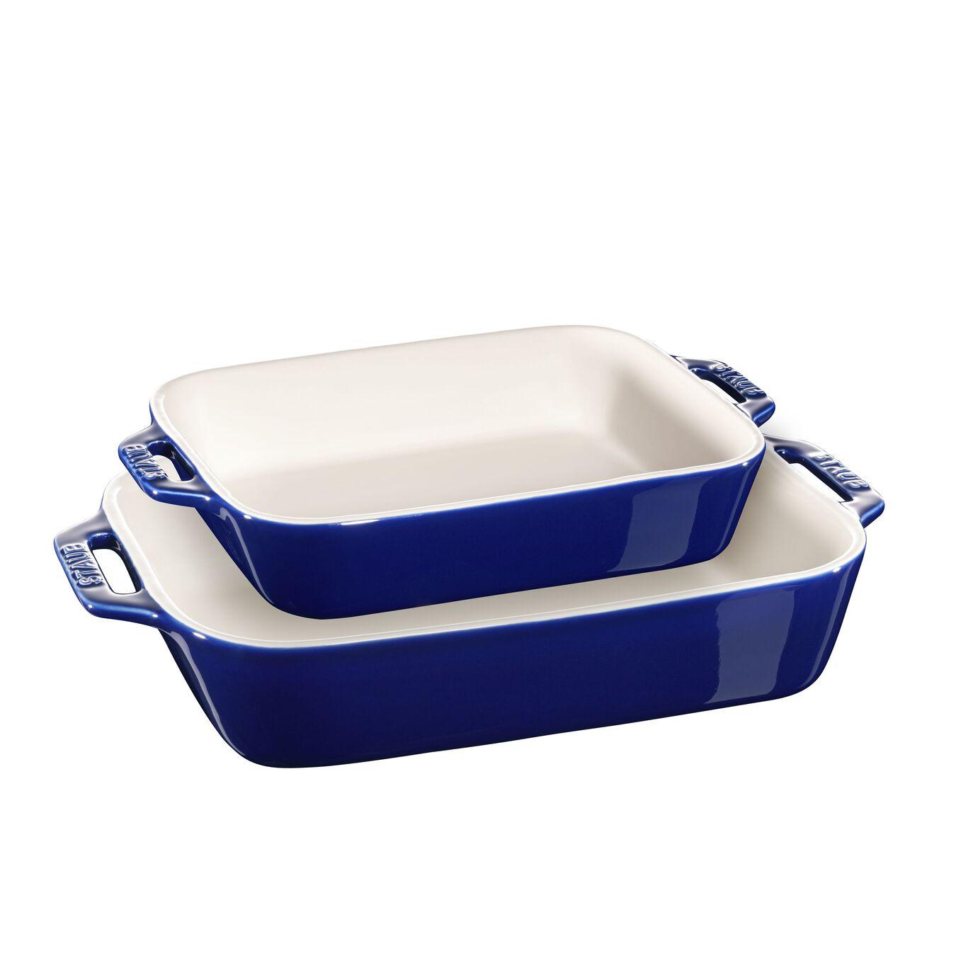 2-pc, Ovenware set, dark blue,,large 1