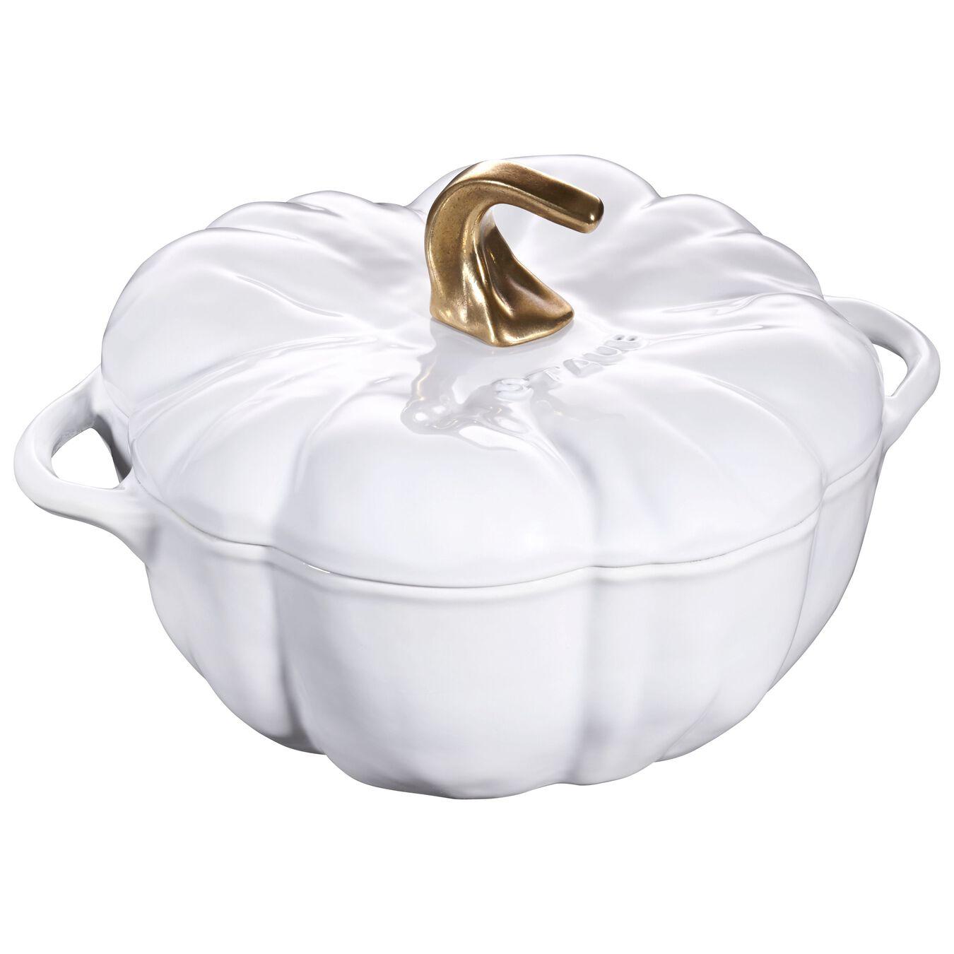 3.75 qt, pumpkin, Cocotte, white,,large 1