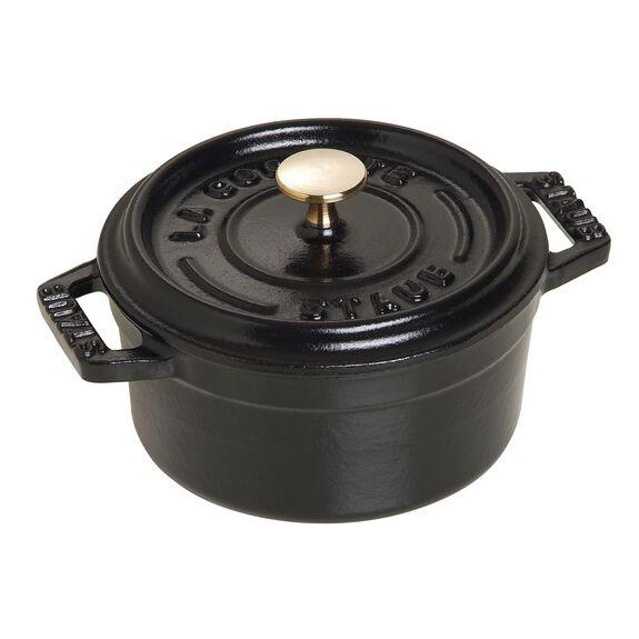 10-cm-/-4-inch round Mini Cocotte, Black,,large 2