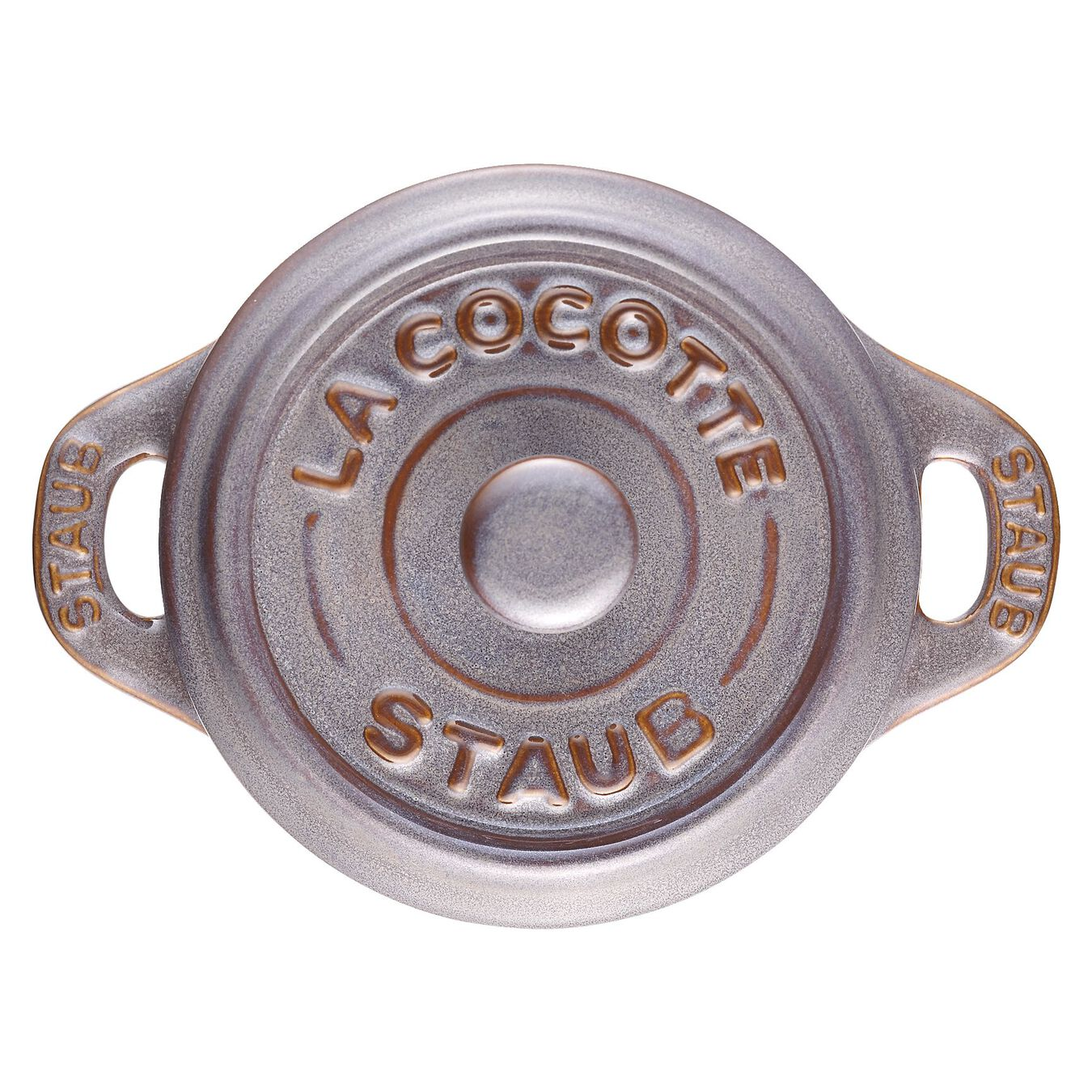 Mini Cocotte 10 cm, redondo, Cinza antigo, Cerâmica,,large 4
