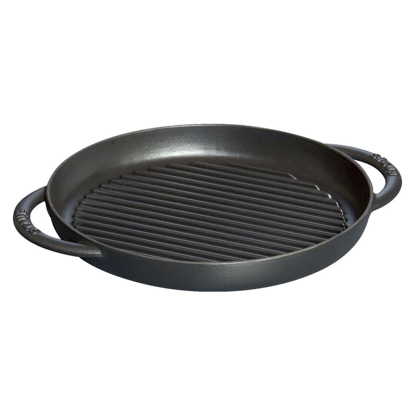 Pure grill 26 cm, Rund, Sort, Støbejern,,large 1