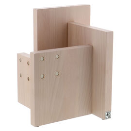 Square Magnetic Knife Block - White-Colored Beechwood