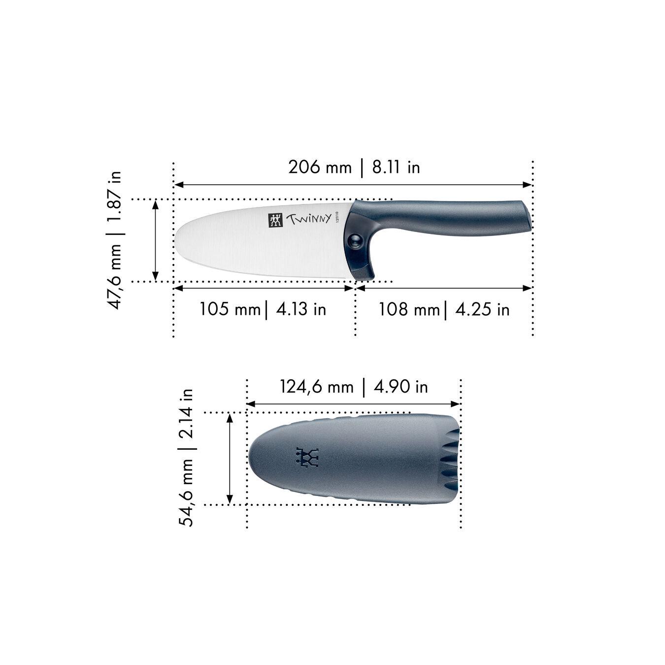 Coltello da cuoco - 10 cm, blu,,large 4