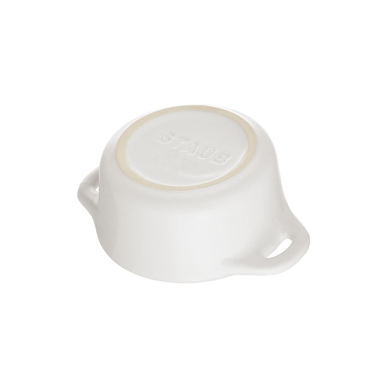 Mini Cocotte 10 cm, Rond(e), Blanc pur, Céramique,,large 4