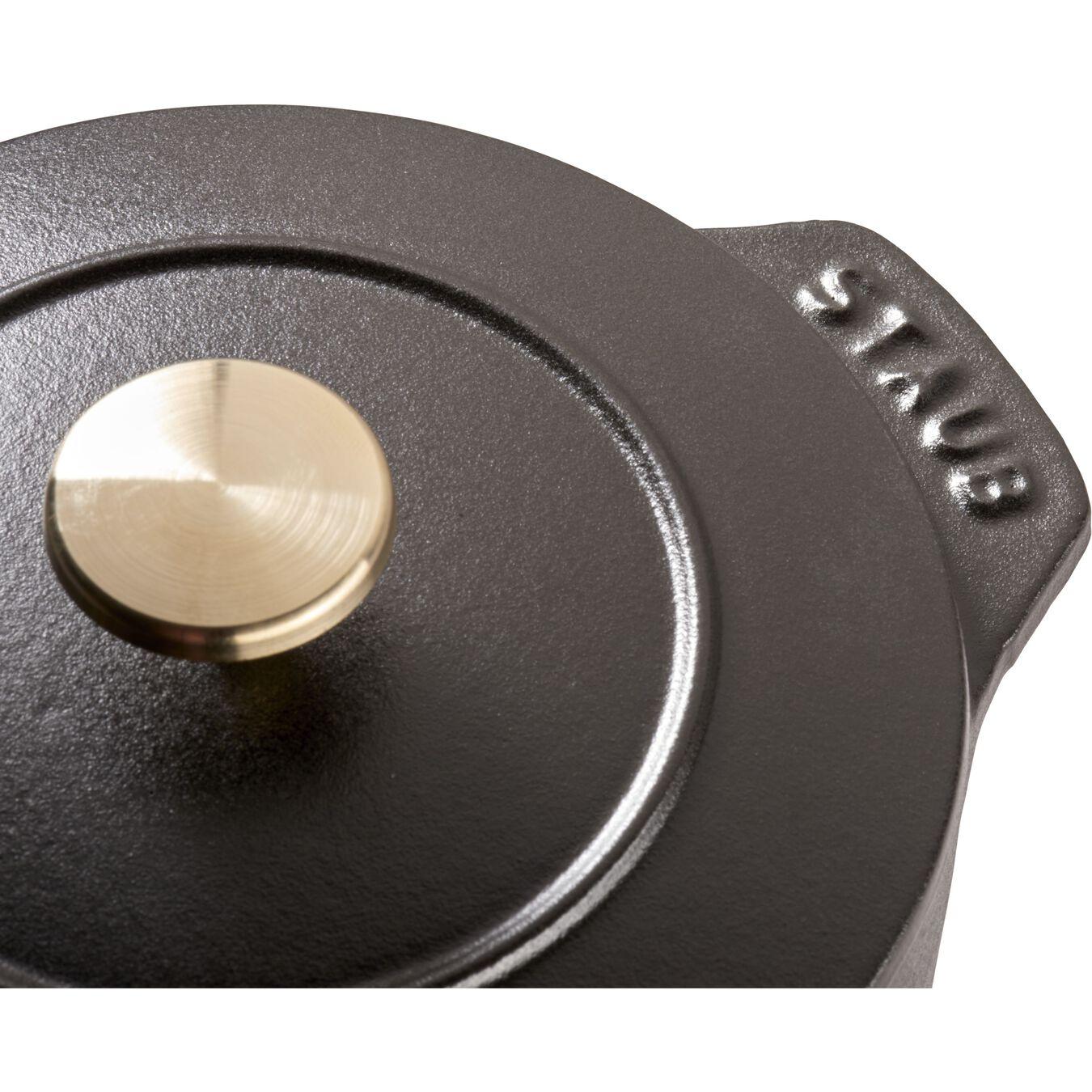 750 ml Cast iron round Rice Cocotte, black,,large 3