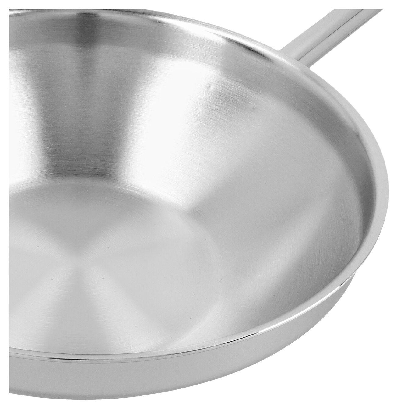 Wok fondo piatto - 32 cm, 18/10 acciaio inossidabile,,large 5