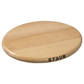 Staub Cast Iron, 8.25-inch Oval Magnetic Wood Trivet