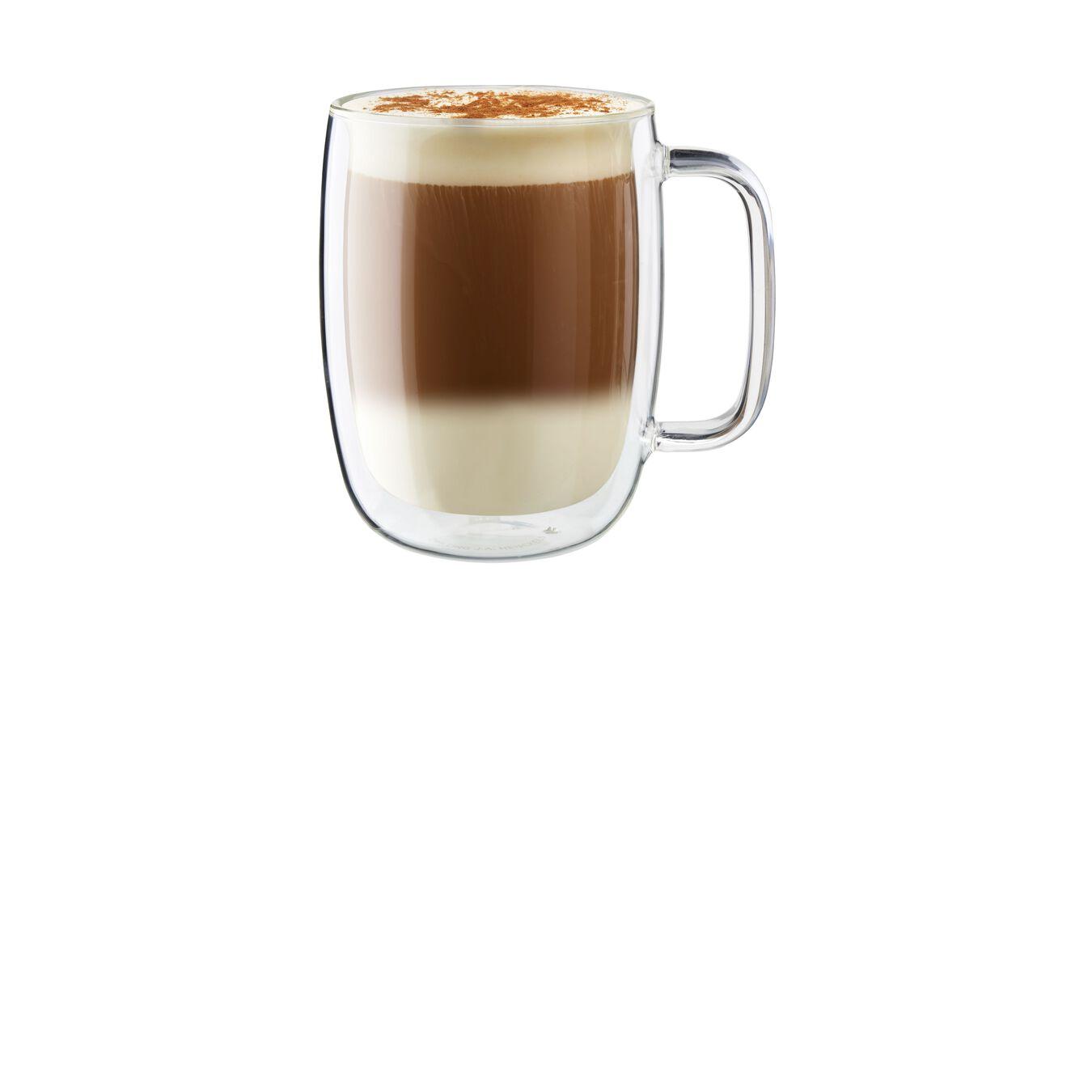 2-pc Double-Wall Glass Latte Mug Set,,large 1
