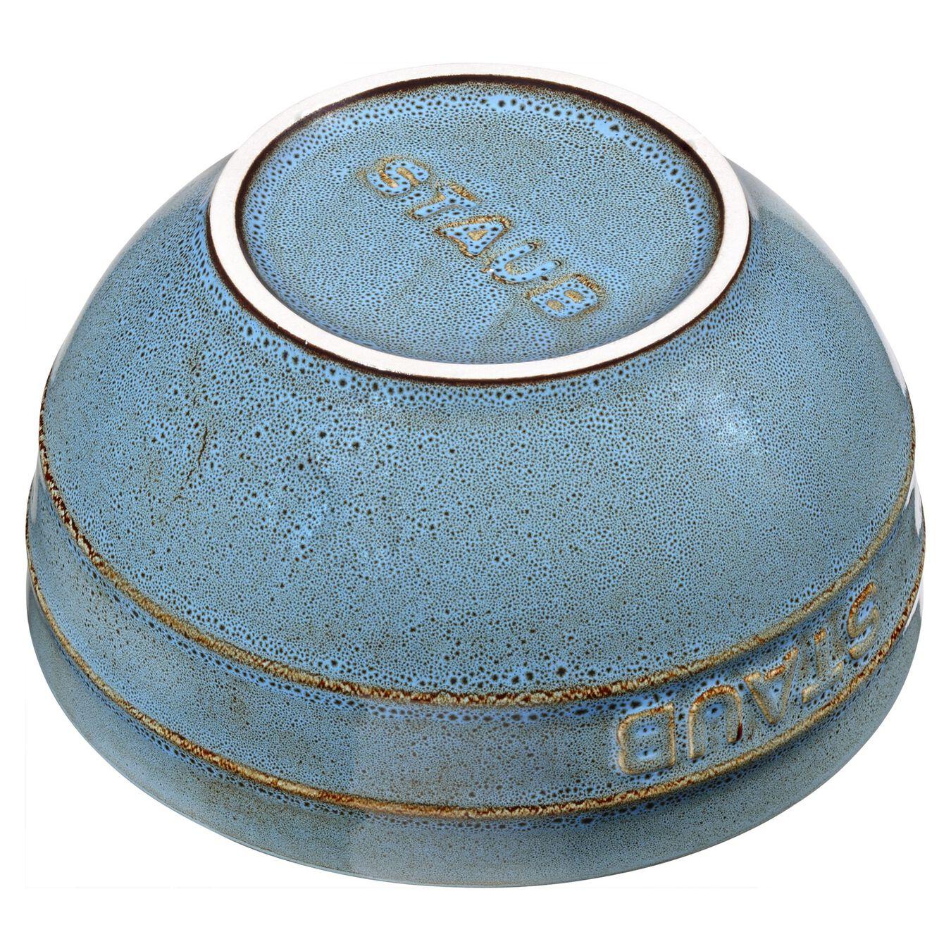 Ciotola rotonda - 14 cm, Colore turchese antico,,large 2
