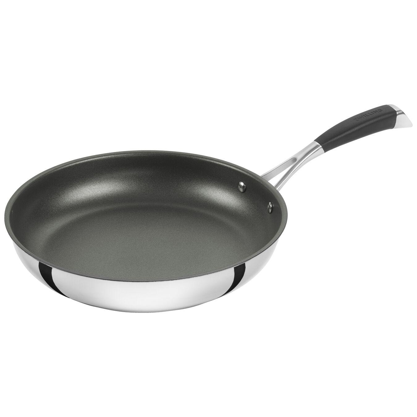 Poêle 28 cm, Acier inoxydable, Noir argenté,,large 1