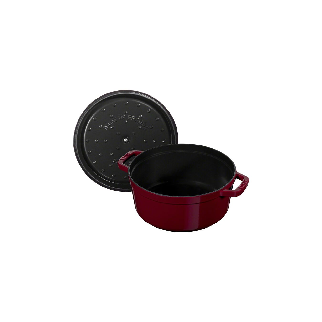 3.75 l Cast iron round Cocotte, Bordeaux - Visual Imperfections,,large 7