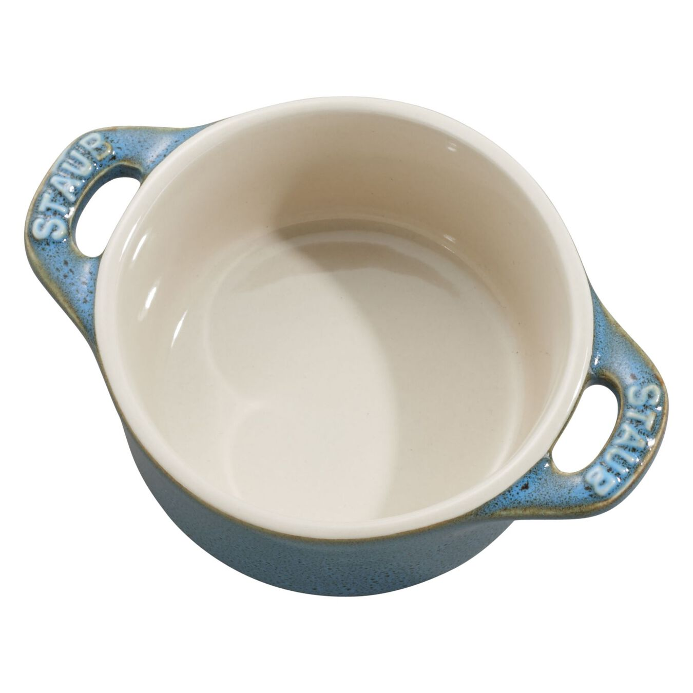 3-pc, Cocotte set, rustic turquoise,,large 3