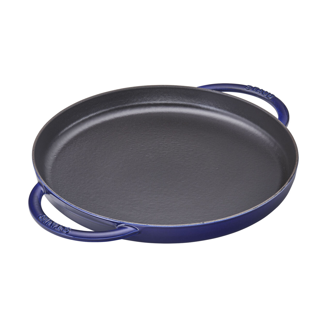 30 cm Cast iron Griddle, dark-blue - Visual Imperfections,,large 1