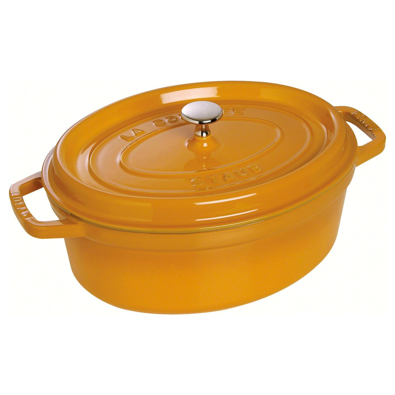 5.5 l oval Cocotte, mustard,,large 1