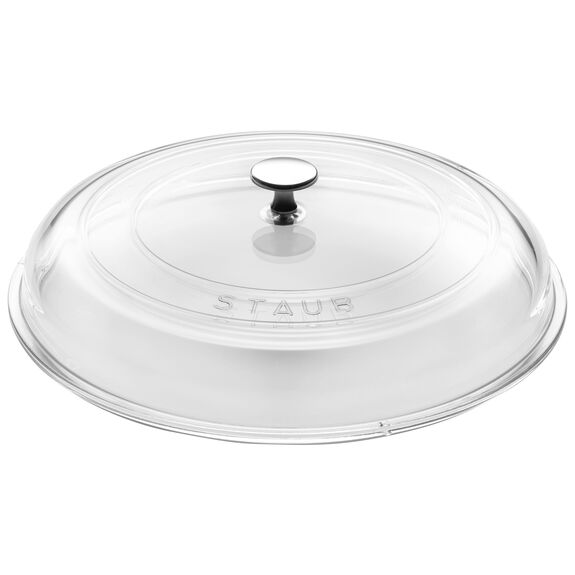 30-cm-/-12-inch Glass Lid domed made of glass,,large