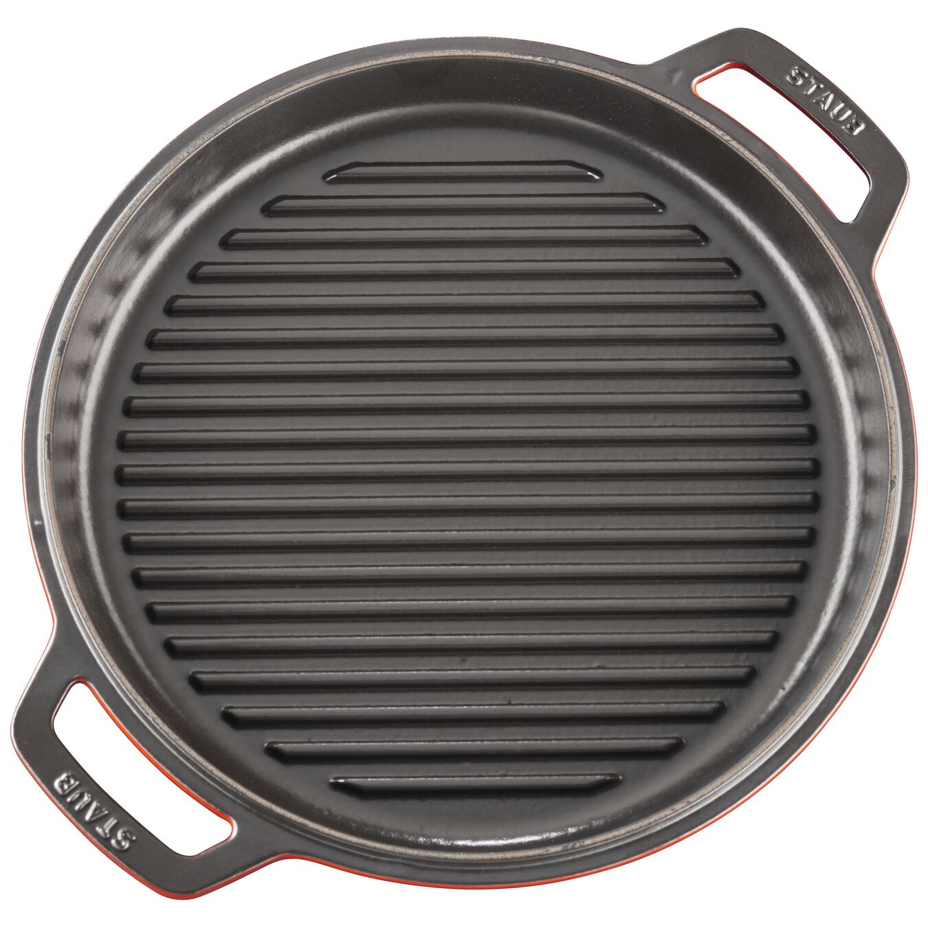 6 l Cast iron round Braise + Grill, Cherry - Visual Imperfections,,large 7