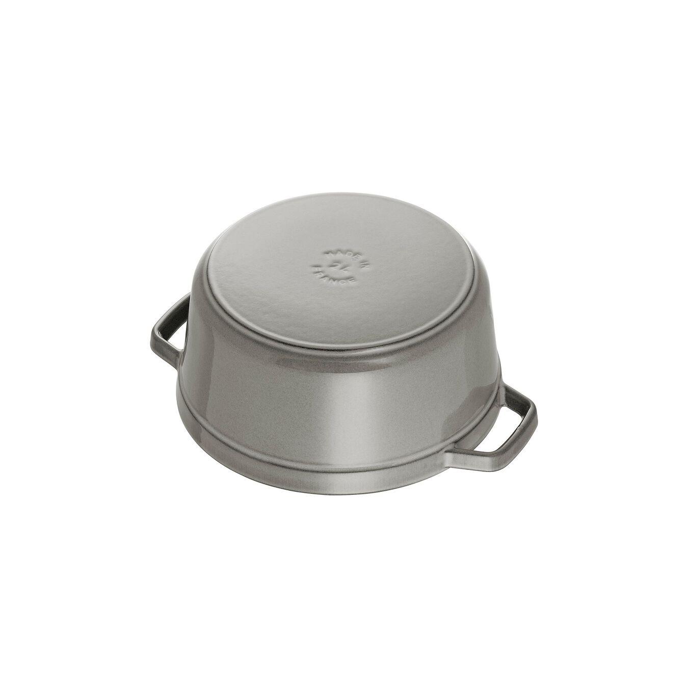 3.8 l round Cocotte, graphite-grey,,large 3