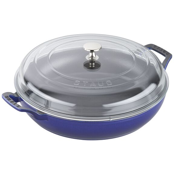 3.5-qt Braiser with Glass Lid - Dark Blue,,large 3