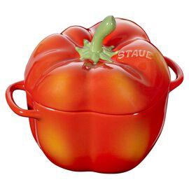 Staub Ceramique, 450 ml Ceramic pepper Cocotte, orange-red