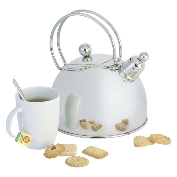 8-inch round Kettle, Silver,,large