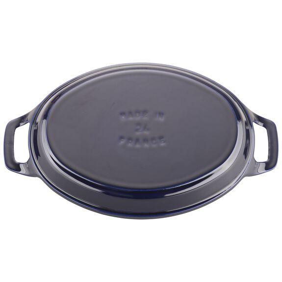 9.5-inch x 6.75-inch Oval Baking Dish - Dark Blue,,large 2