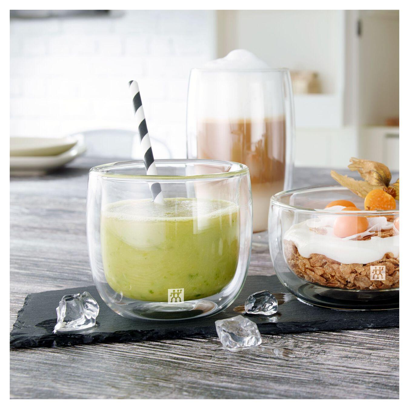 Service de verres à thé à double paroi, 2-pces,,large 5