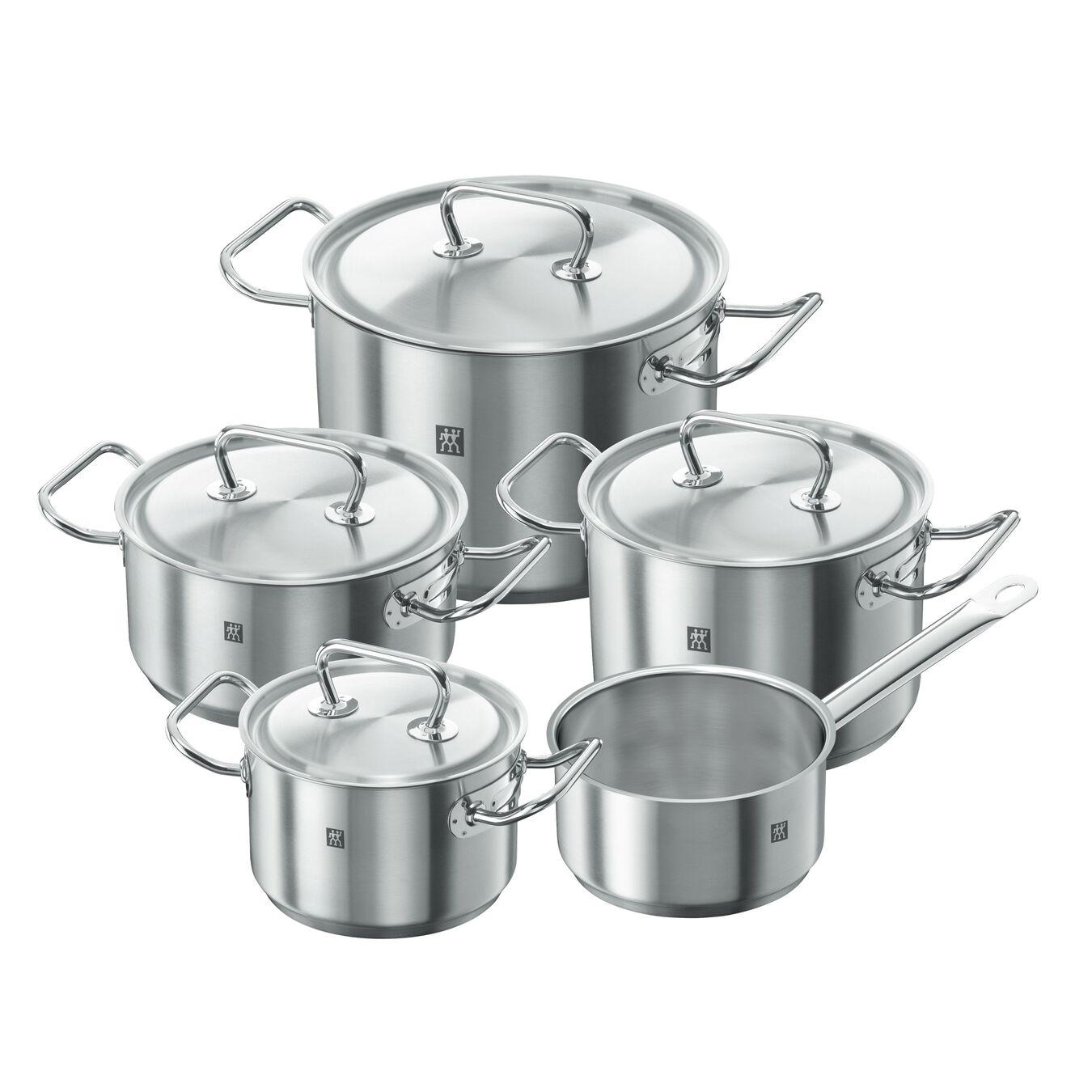 Ensemble de casseroles 5-pcs, Inox 18/10,,large 1