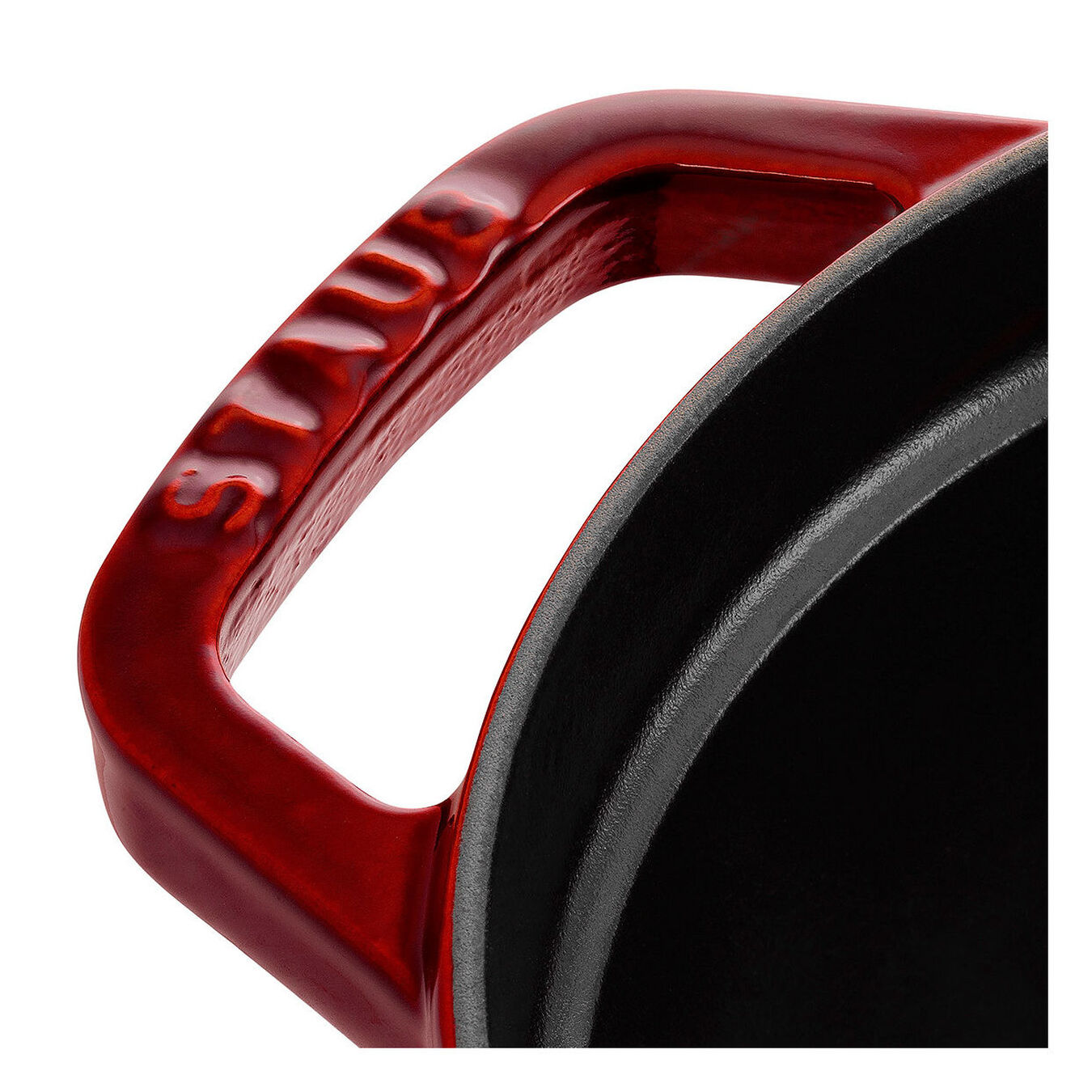 4,25 l Cast iron oval Faitout, Grenadine-Red,,large 3