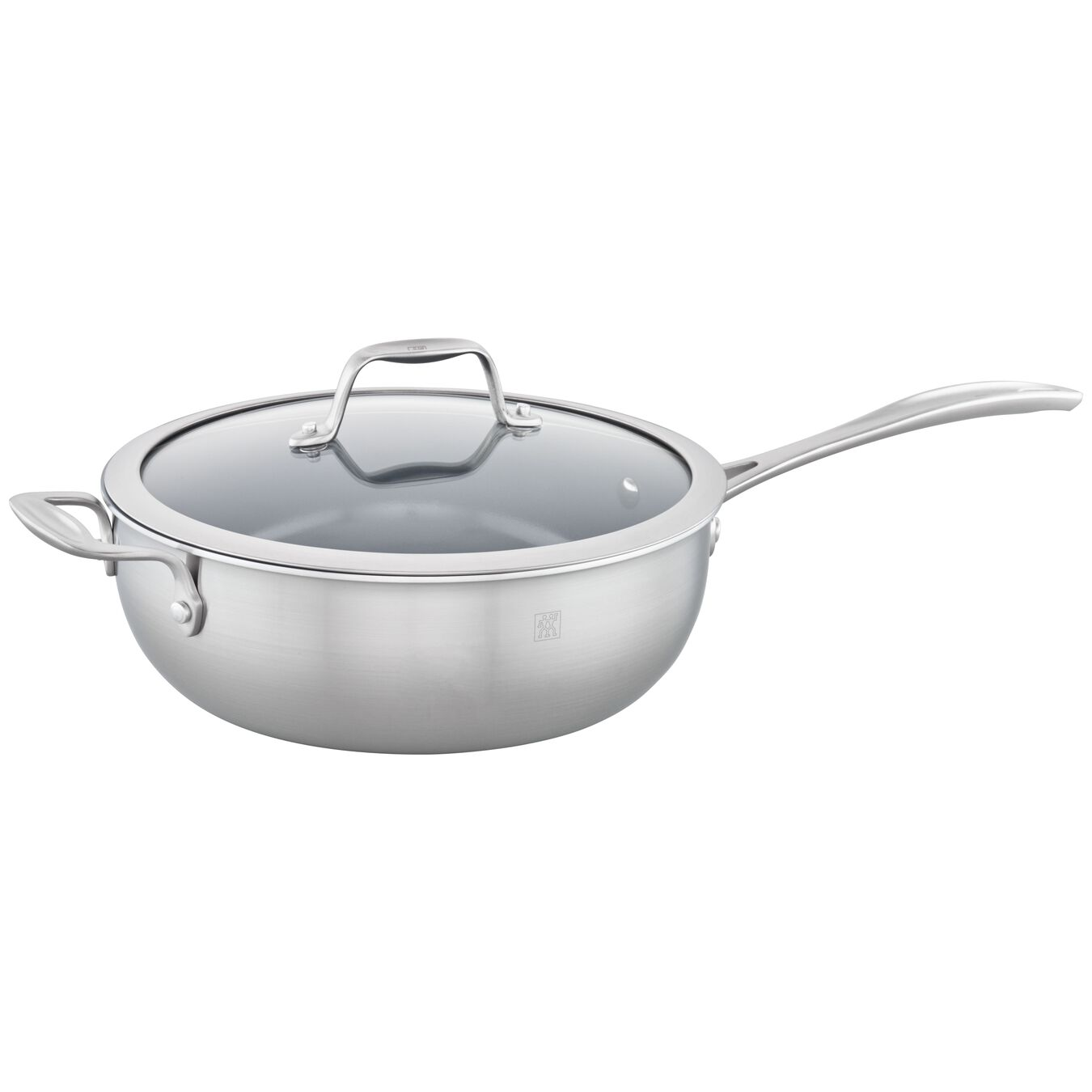 3-ply 4.6-qt Stainless Steel Ceramic Nonstick Perfect Pan,,large 1