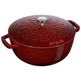 Staub Cast Iron, 3.75-qt round French oven lily, Grenadine