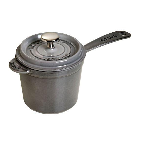 1.25-qt Cast iron Sauce pan, Graphite Grey,,large 2