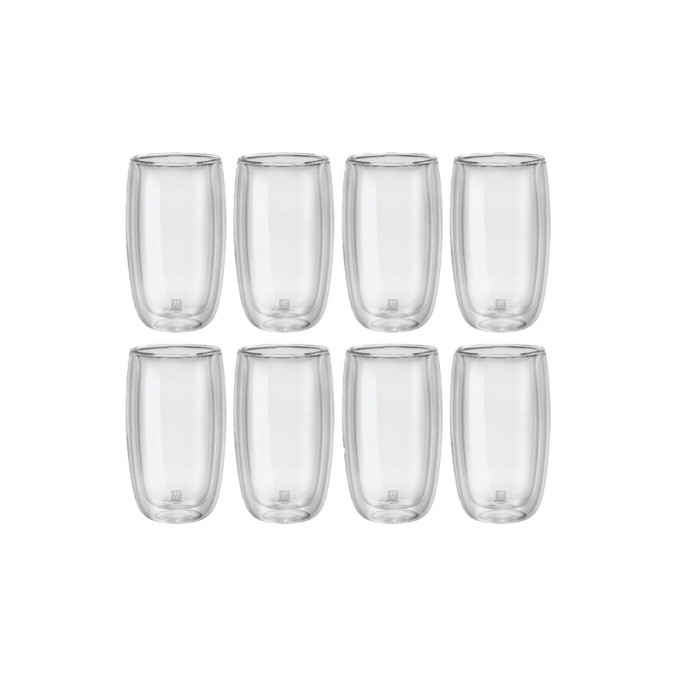 8 Piece Double-Wall Latte Macchiato Glass Set,,large 2