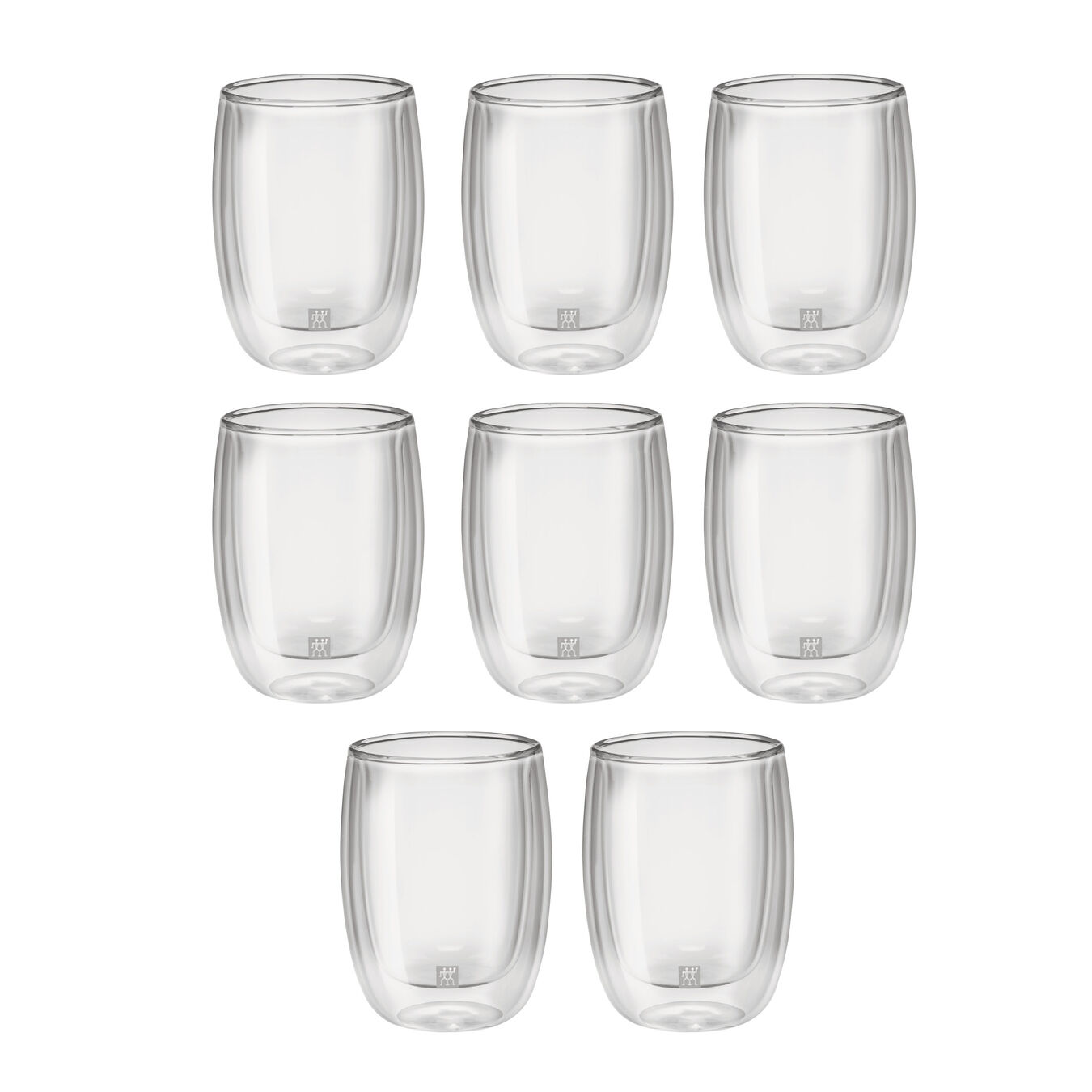 8 Piece Coffee Glass Set - Value Pack,,large 1