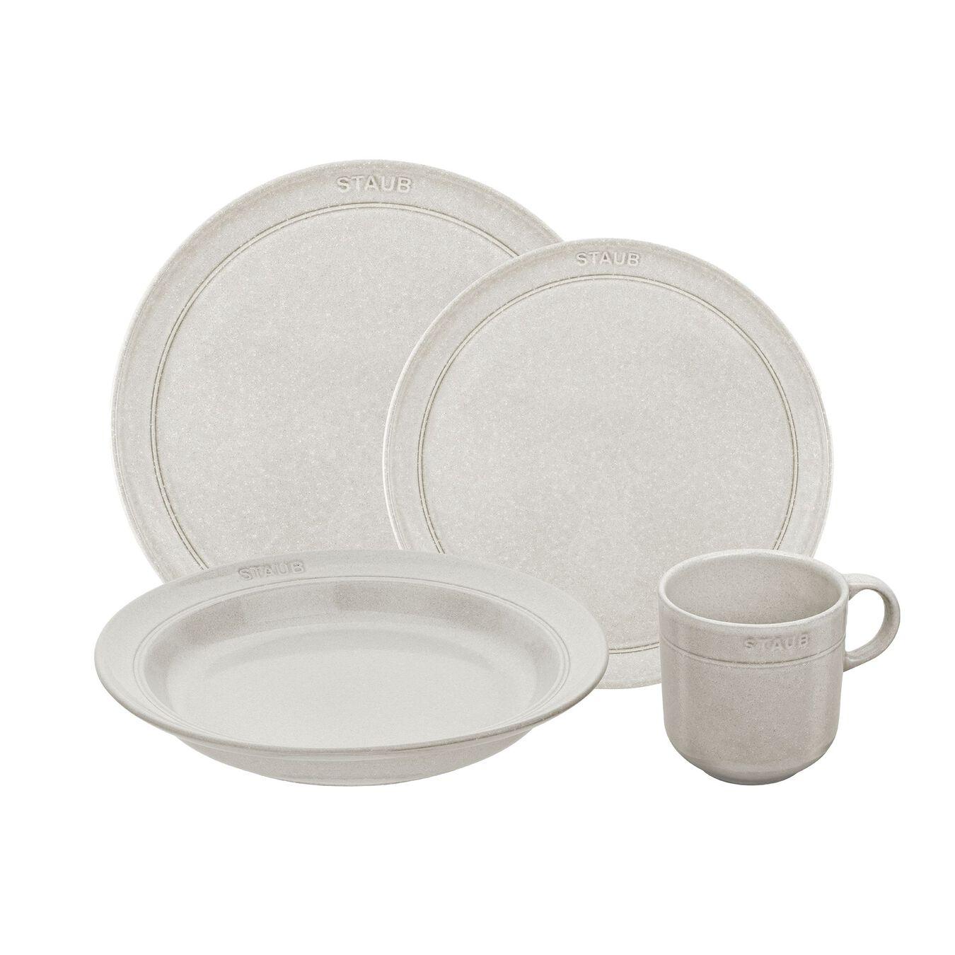 Set de service, 16-pcs   White Truffle   Ceramic   Ceramic,,large 1