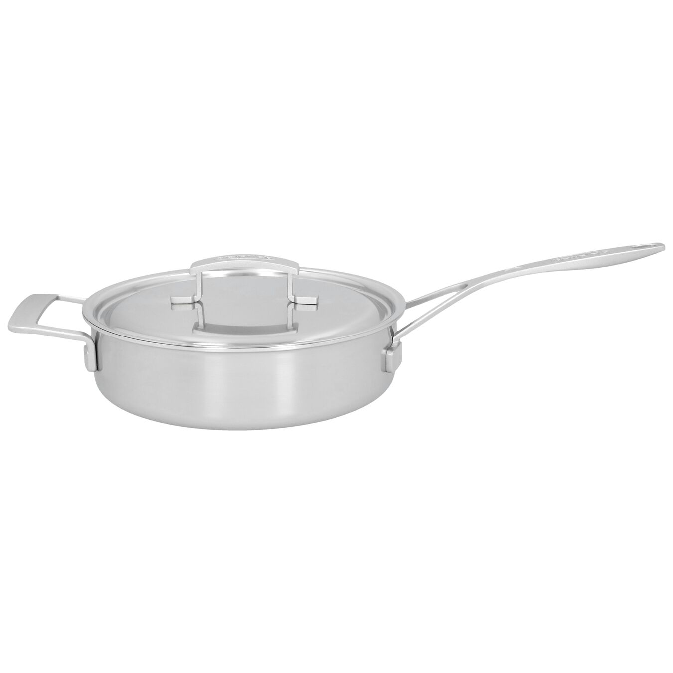 9.5-inch Saute pan with lid, 18/10 Stainless Steel ,,large 1