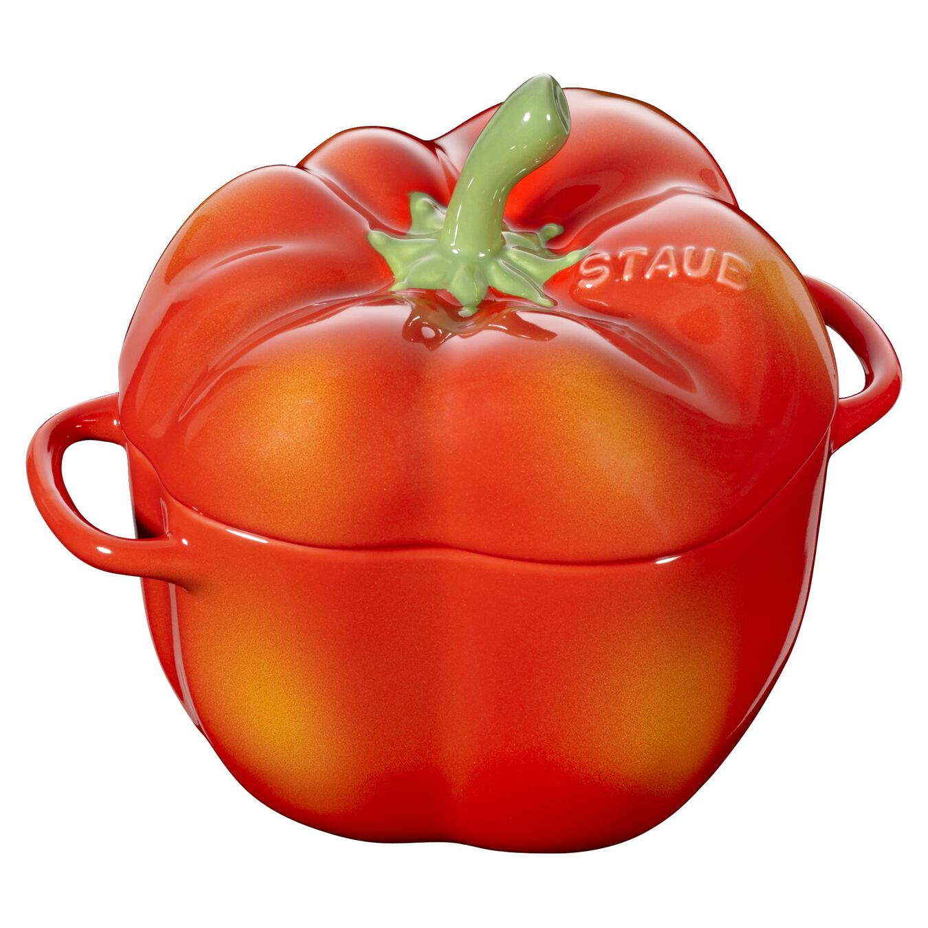 Cocotte 11 cm, Poivron, Orange et rouge, Céramique,,large 1