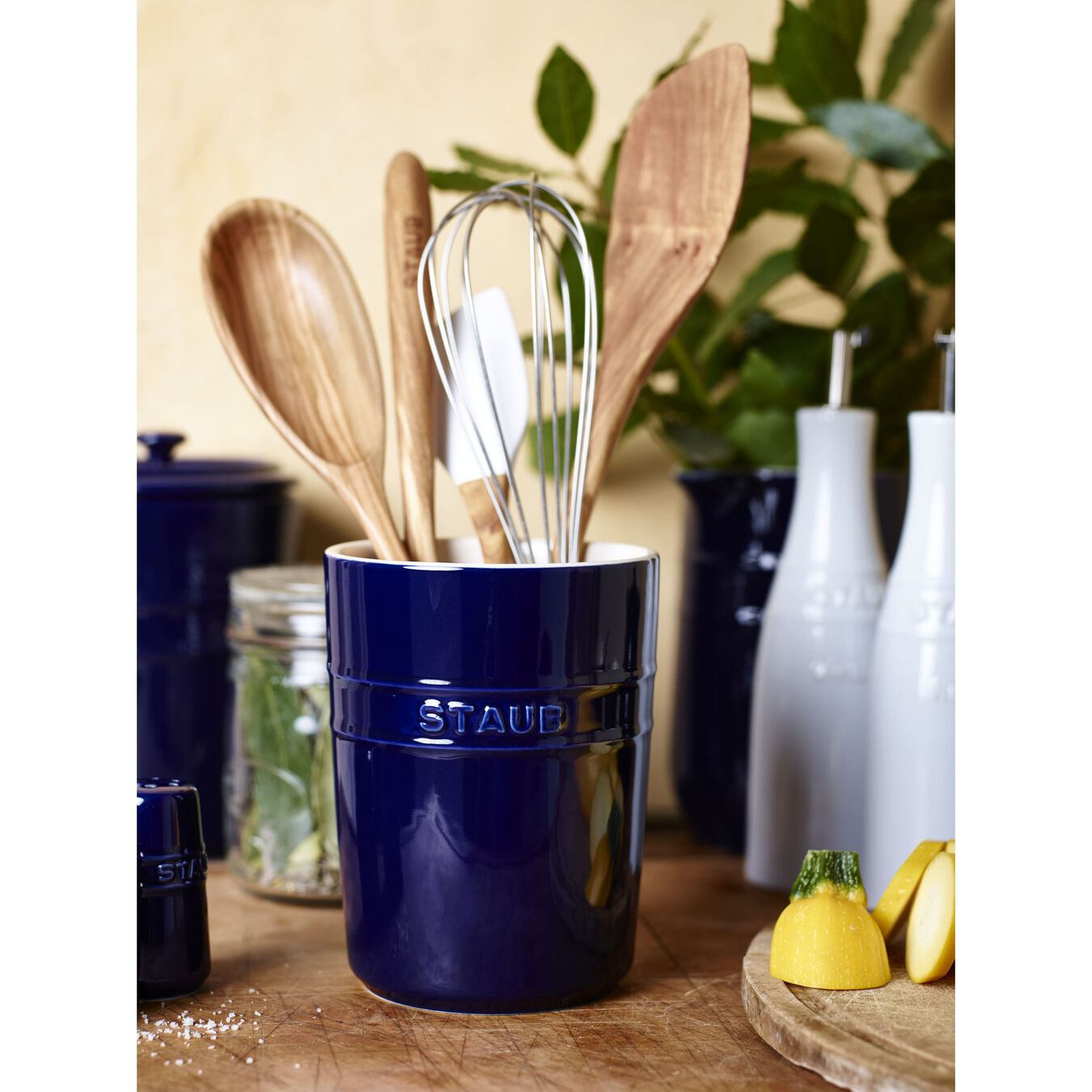 Utensil holder, dark blue,,large 2