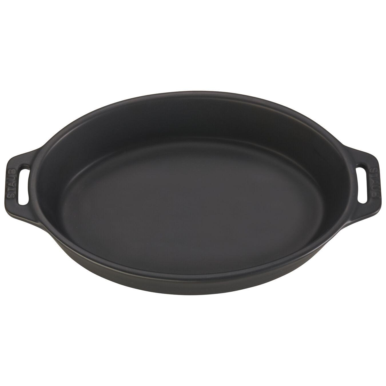 9-inch Oval Baking Dish - Matte Black,,large 2