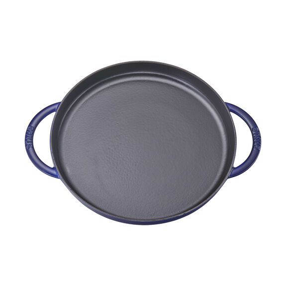 12-inch Round Double Handle Pure Griddle - Dark Blue,,large 2