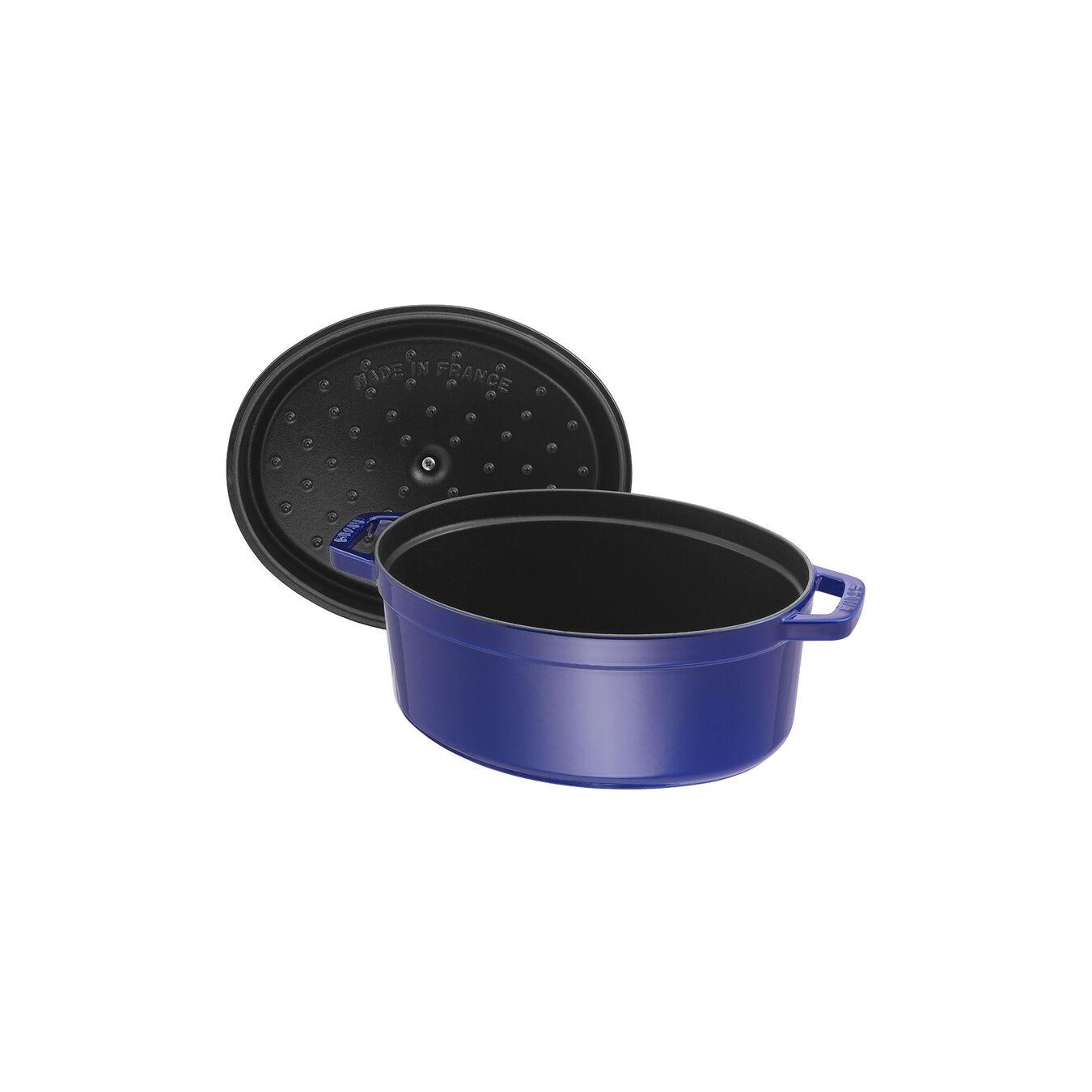 4,25 l Cast iron oval Faitout, Dark-Blue,,large 5