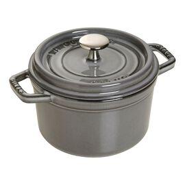 Staub Cast Iron, 0.75-qt round Cocotte, Graphite Grey