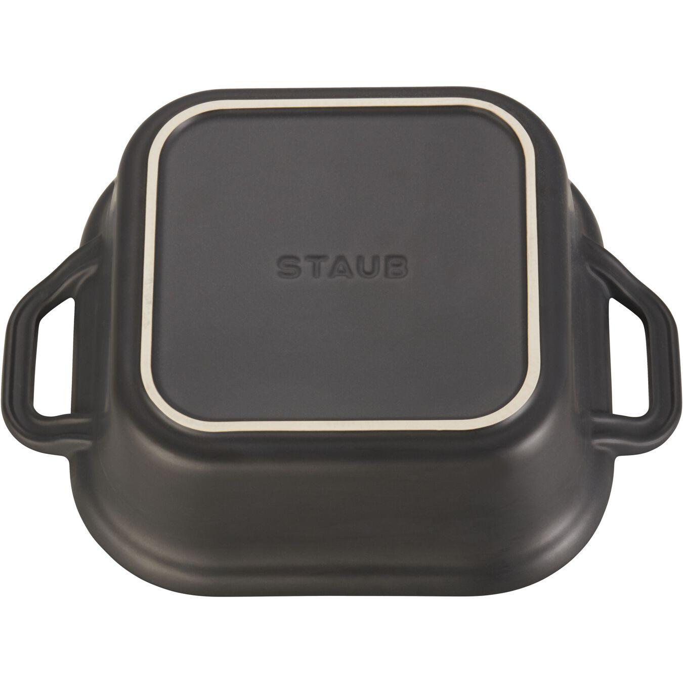 9-inch, square, Oven dish, black matte,,large 4