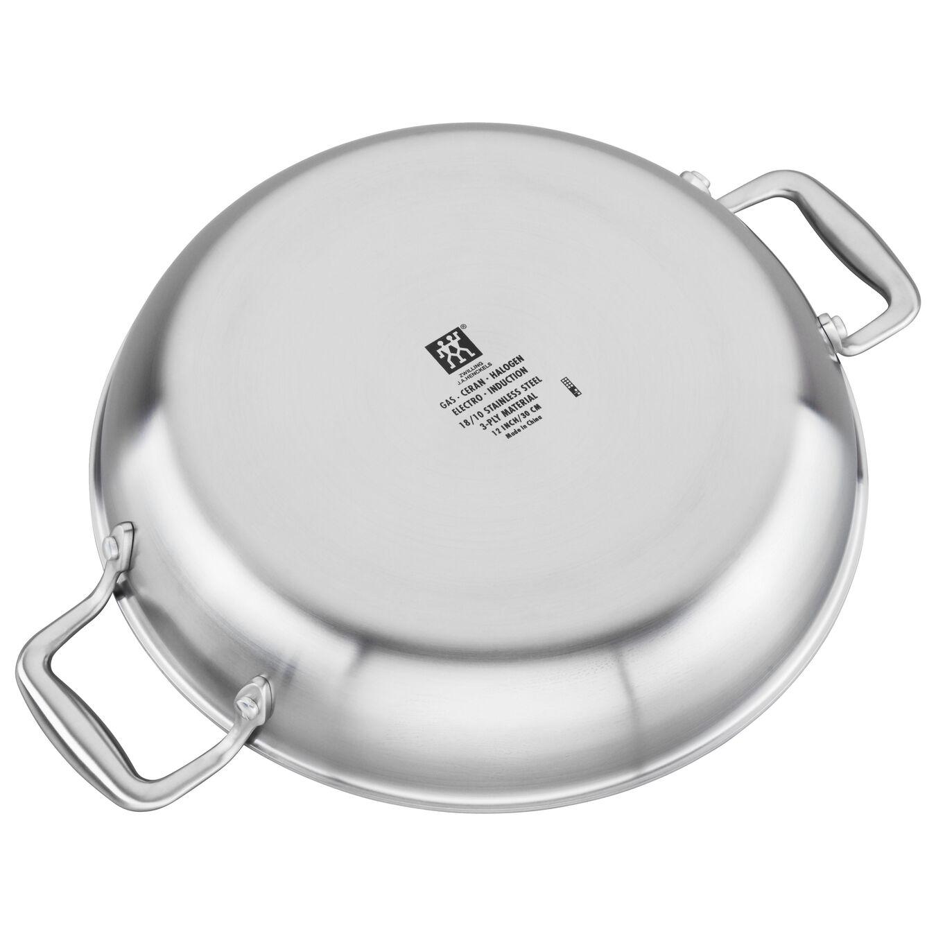 3-ply 4-qt Stainless Steel Ceramic Nonstick Braiser,,large 2